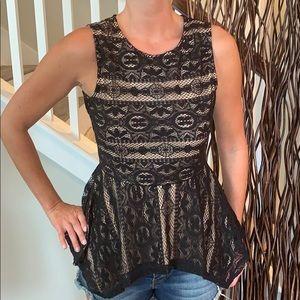 NWT BCBG MAXAZRIA peplum blouse
